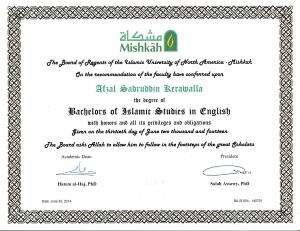 Mishkah Bachelors Degree